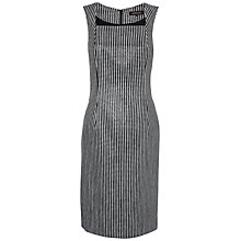 Buy Jaeger Graphic Square Dress, Black/White Online at johnlewis.com