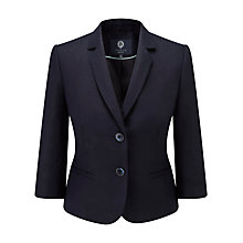Buy Viyella Petite Tencel Jacket, Navy Online at johnlewis.com