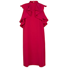 Buy Miss Selfridge Frill Front Dress, Pink Online at johnlewis.com