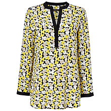 Buy Jaeger Geo Camo Tunic Top, Yellow Online at johnlewis.com