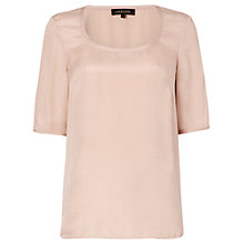Buy Jaeger Bubble Silk T-Shirt, Blossom Online at johnlewis.com