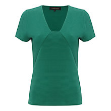 Buy Jaeger Ottoman Jersey Top, Jade Online at johnlewis.com