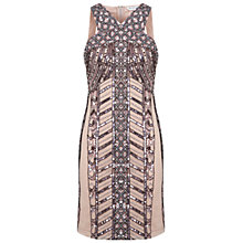 Buy Miss Selfridge Linear Embellished Dress, Pink Online at johnlewis.com