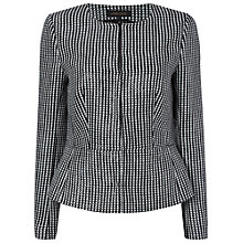 Buy Jaeger Graphic Square Jacket, Black Online at johnlewis.com