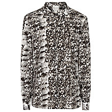 Buy Reiss Printed Pippa Shirt, Black/White Online at johnlewis.com