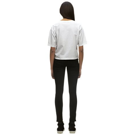 Buy Whistles Holly Premium Top, White Online at johnlewis.com