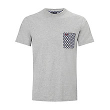 Buy Fred Perry Archive Print Pocket T-Shirt, Grey Online at johnlewis.com