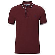 Buy Fred Perry Vintage Print Trim Polo Shirt, Port Online at johnlewis.com