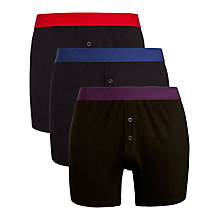 Buy John Lewis Cotton Trunks with Coloured Waistband, Pack of 3 Online at johnlewis.com