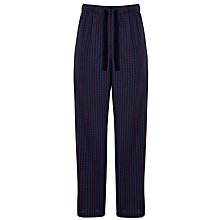 Buy John Lewis Woven Cotton Check Lounge Pants, Blue Online at johnlewis.com