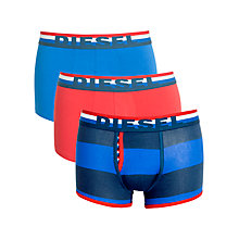 Buy Diesel Devine Stripe & Plain Boxer Trunks, 3 Pack, Multi Online at johnlewis.com
