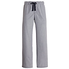 Buy John Lewis Woven Cotton Stripe Lounge Pants, Charcoal Online at johnlewis.com
