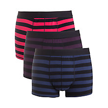 Buy John Lewis Rugby Stripe Cotton Trunks, Pack of 3, Multi Online at johnlewis.com