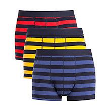 Buy John Lewis Rugby Stripe Cotton Trunks, Pack of 3 Online at johnlewis.com