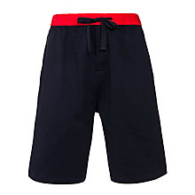 Buy John Lewis Jersey Lounge Shorts, Navy/Red Online at johnlewis.com