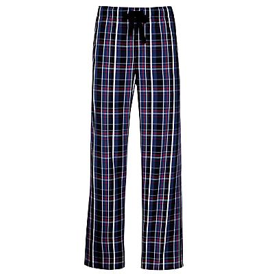 John Lewis Woven Cotton Lounge Pants, Blue/Red