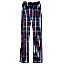 Buy John Lewis Woven Cotton Lounge Pants, Blue/Red Online at johnlewis.com