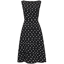 Buy Havren Fit and Flare Polka Dot Dress, Multi Online at johnlewis.com