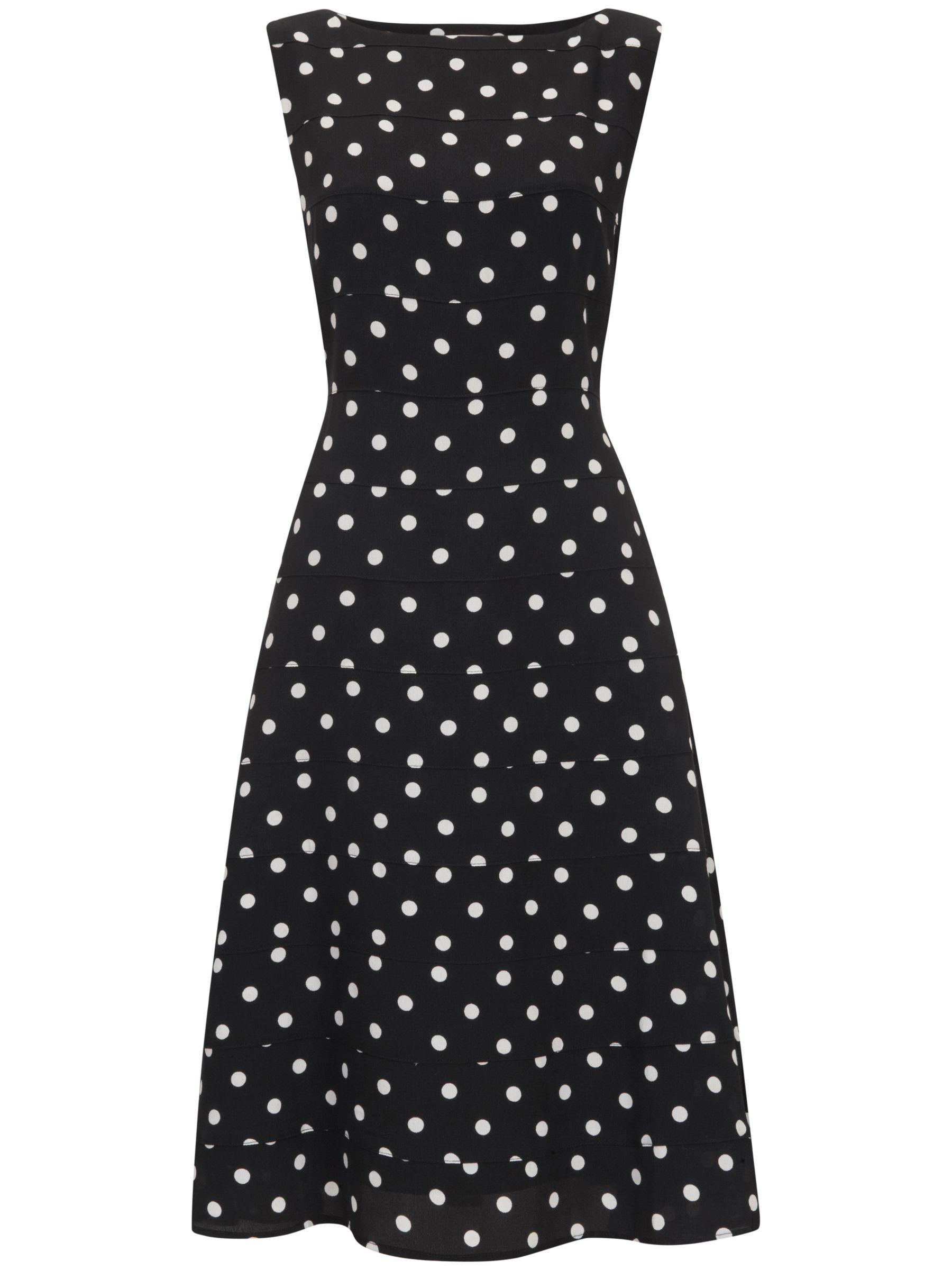 Havren Fit and Flare Polka Dot Dress, Multi