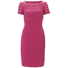 Buy Adrianna Papell Partial Tuck Dress, Flamingo Online at johnlewis.com