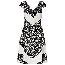 Buy Adrianna Papell Fit and Flare Dress, Ivory Online at johnlewis.com