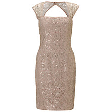 Buy Adrianna Papell Metallic Lace With Sequins Dress, Rose Gold Online at johnlewis.com