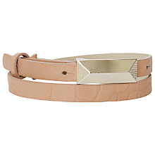 Buy French Connection Wendy Belt, Melon Online at johnlewis.com