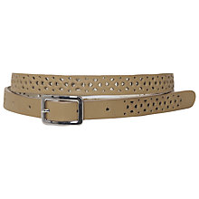 Buy French Connection Palmer Perforated Leather Belt, Tan Online at johnlewis.com