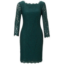 Buy Adrianna Papell Long Sleeve Lace Dress, Hunter Online at johnlewis.com