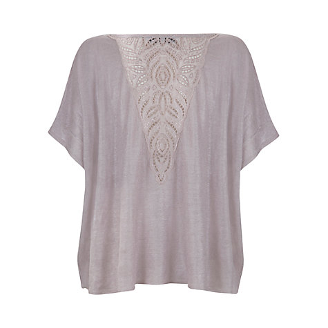 Buy Mint Velvet Foil Lace Back Knitted Top Online at johnlewis.com