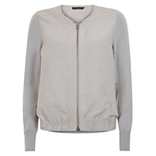 Buy Mint Velvet Bomber Jacket, Pearl Grey Online at johnlewis.com