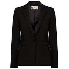 Buy Boutique by Jaeger Scallop Blazer, Black Online at johnlewis.com