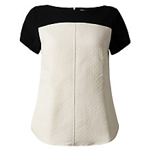 Buy Closet Quilt Contrast Top, Ivory/Black Online at johnlewis.com