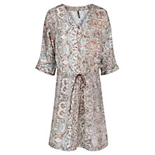 Buy Mango Mixed Print Dress, Natural White Online at johnlewis.com