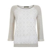 Buy Mint Velvet Brodrais Detail Sweater, Multi Online at johnlewis.com