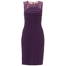 Buy Adrianna Papell Sleeveless Lace Framed Banded Dress, Dusty Plum Online at johnlewis.com