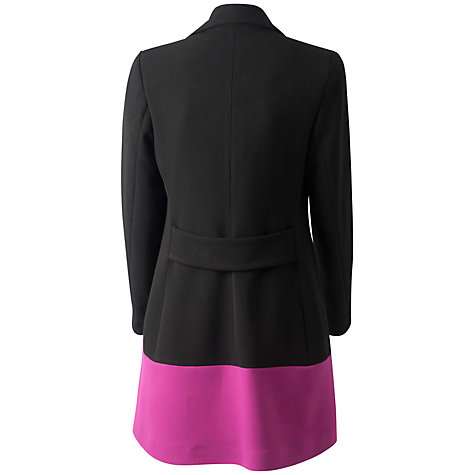 Buy Almari Contrast Hem Coat, Black/Pink Online at johnlewis.com