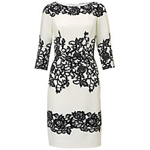 Buy Adrianna Papell Fitted Placed Printed Lace Dress, Ivory Online at johnlewis.com