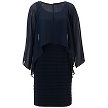 Buy Adrianna Papell Poncho Banded Dress, Eclipse Online at johnlewis.com