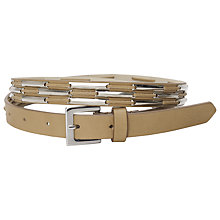 Buy French Connection Sylvia Belt, Tan Online at johnlewis.com