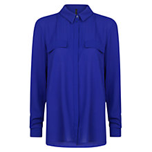 Buy Mango Crepe Blouse, Bright Blue Online at johnlewis.com