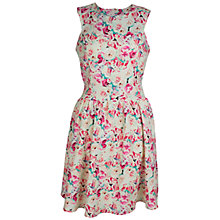 Buy Whistle & Wolf Floral Print Prom Dress, Cream/Multi Online at johnlewis.com