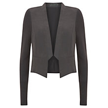Buy Mint Velvet Cropped Tux Jacket, Slate Online at johnlewis.com