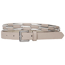 Buy French Connection Sylvia Belt, Capri Blush Online at johnlewis.com