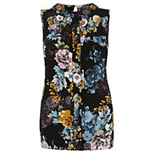 Buy Oasis Sketch Floral Shell Top, Multi Online at johnlewis.com