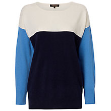 Buy Jaeger Slouchy Cashmere Knit Top, Navy Online at johnlewis.com