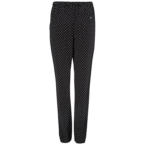 Buy Jaeger Spot Silk Trousers, Black Online at johnlewis.com