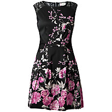 Buy Almari Lace Panel Floral Dress, Pink Online at johnlewis.com