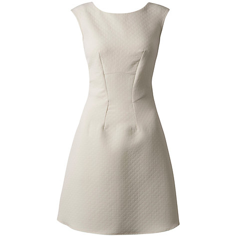 Buy Closet Quilted A-Line Dress, Ivory Online at johnlewis.com