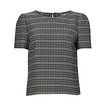 Buy Jaeger Aztec Top, Black / White Online at johnlewis.com